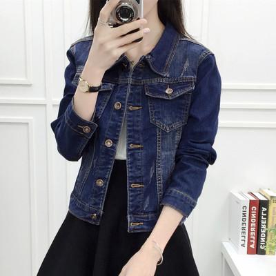牛仔外套女春秋季学生宽松短款韩版bf夹克开衫上衣修身休闲小外套