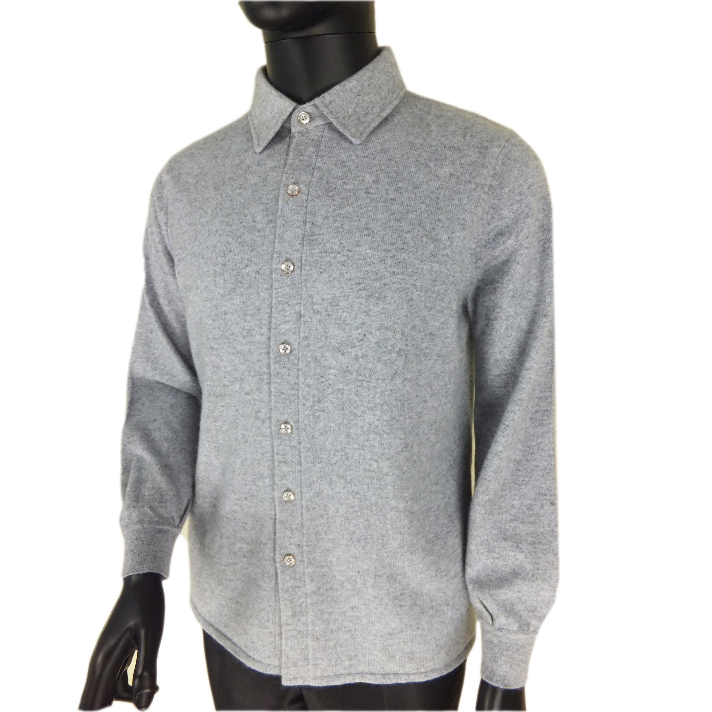 羊绒翻领开衫