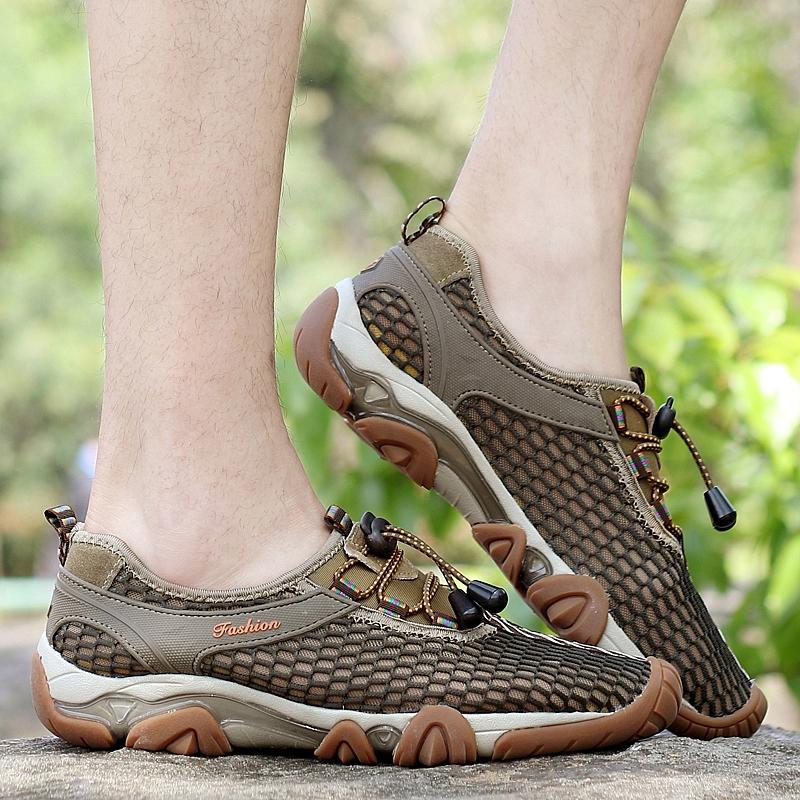 夏天青年学生户外溯溪鞋男夏网眼镂空户外运动鞋涉水速干登山网鞋