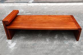 缅甸花梨木贵妃床独板加厚 单人沙发中式客厅红木美人榻贵妃椅