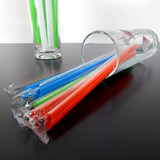 Individually wrapped disposable pipette pearl milk tea juice pointed straight pipe 19 * 1cm100 sticks 10 pack free mail