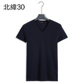 简约时尚 毛衫 合身针织衫 V领短袖 北纬30°原创设计夏季新款 4702