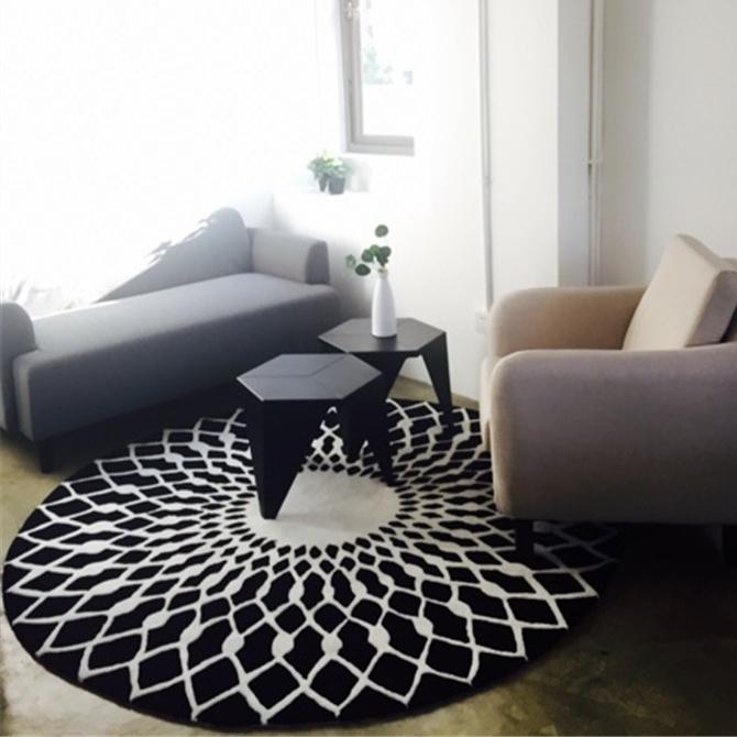 黑白大地毯
