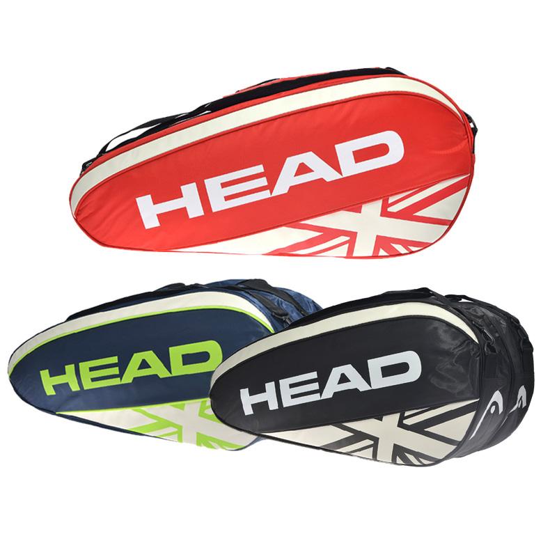 包邮HEAD海德包ATPCombi6支装网球拍羽毛球双肩包白蓝色单肩包