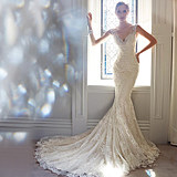 Angel wedding clothes sexy backless holiday trip to the beach beach scenery tail drag tail light wedding dress wholesale 999t