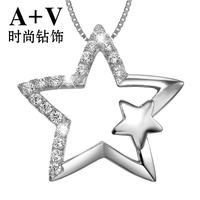 五角星钻石项链