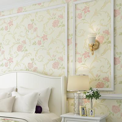 海民墙纸 温馨田园发泡无纺布墙纸 卧室客厅电视背景墙壁纸