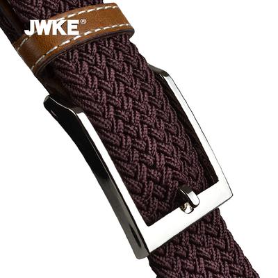 JWKE编织帆布腰带男士针扣弹力韩版休闲皮带青年学生百搭松紧裤带