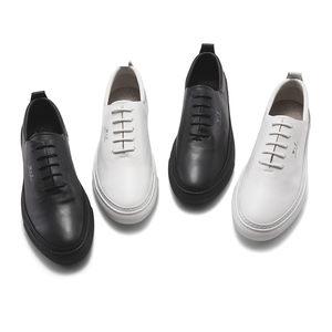 维界男士商务休闲皮鞋透气真皮软面皮牛津鞋男英伦潮百搭白色男鞋