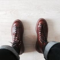 男鞋春秋季潮鞋男士高帮鞋休闲皮鞋英伦韩版潮流百搭板鞋男马丁靴
