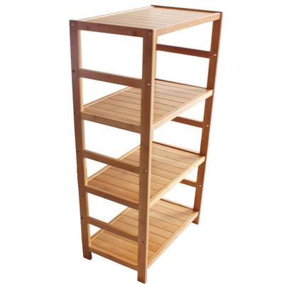 楠竹置物架 卧室落地储物架阳台浴室搁物层架客厅厨房实木收纳架