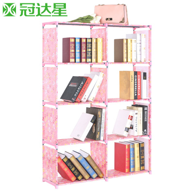 冠达星创意组合层架 简易书架书柜室内多功能儿童学生置物架落地牌子口碑评测
