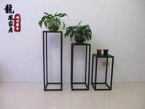 欧式铁艺室内花盆架客厅简约时尚落地吊兰绿萝花架阳台花几小凳子