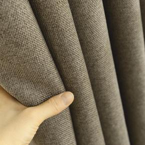 素色亚麻加厚遮光布帘 落地窗纯色卧室客厅阳台简约窗帘布料特价