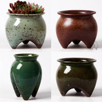 Ceramic flower pot decoration cute decorative big size pots