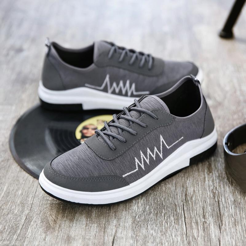男板鞋休闲帆布鞋潮流时尚韩版百搭春款透气跑步鞋低帮一脚蹬学生