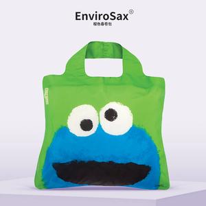EnviroSax芝麻街春卷包 大容量手提环保袋可折叠购物袋单肩包大包