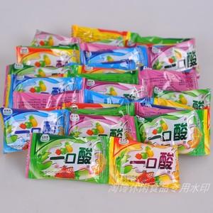 6克X65小包信常积一口酸草莓菠萝苹果混合水淉味胶质糖果小零食品
