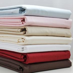 60支500根埃及长绒棉纯棉贡缎被单 纯色全棉双人床单 床笠可定制
