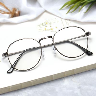 素颜复古圆框100度近视眼镜男女成品200度韩版平光潮有度数300度