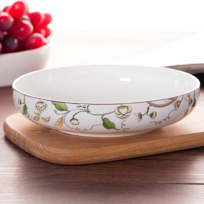 骨瓷餐具碟子深盘菜盘汤盘饭盘窝盘家用焗饭盘子日式创意陶瓷餐盘