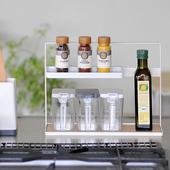 现货日本进口厨房置物架调味调料用品用具收纳架防滑底多层托盘架图片