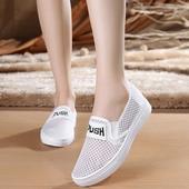 新款老北京布鞋女鞋透气单鞋平底防滑休闲鞋学生鞋子女网鞋小白鞋