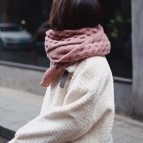 一个人长大的这几年~安娜网红款韩版女百搭秋冬毛线围巾披肩保暖