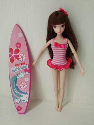 6分娃娃泳装芭比娃娃游泳衣可儿娃娃冲浪板道具珍妮乐吉儿选用款