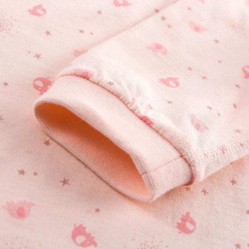 丽婴房婴儿衣服 儿童两粒扣圆领上衣两件装 纯棉舒适 2017春新