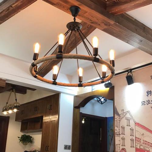 长方形复古餐厅吊灯
