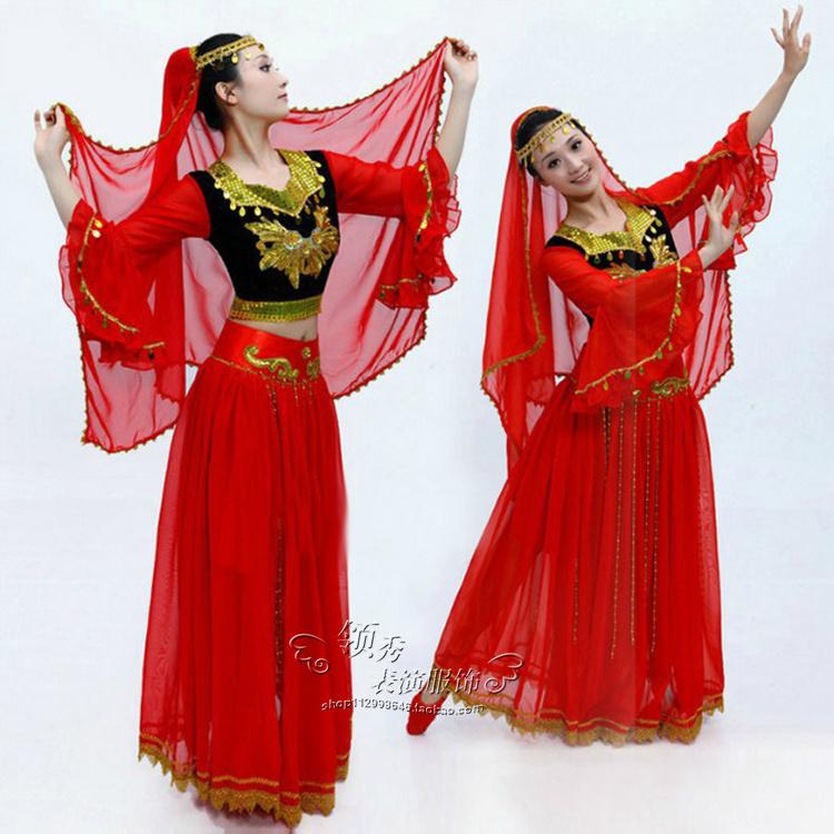 维吾尔族舞蹈服女