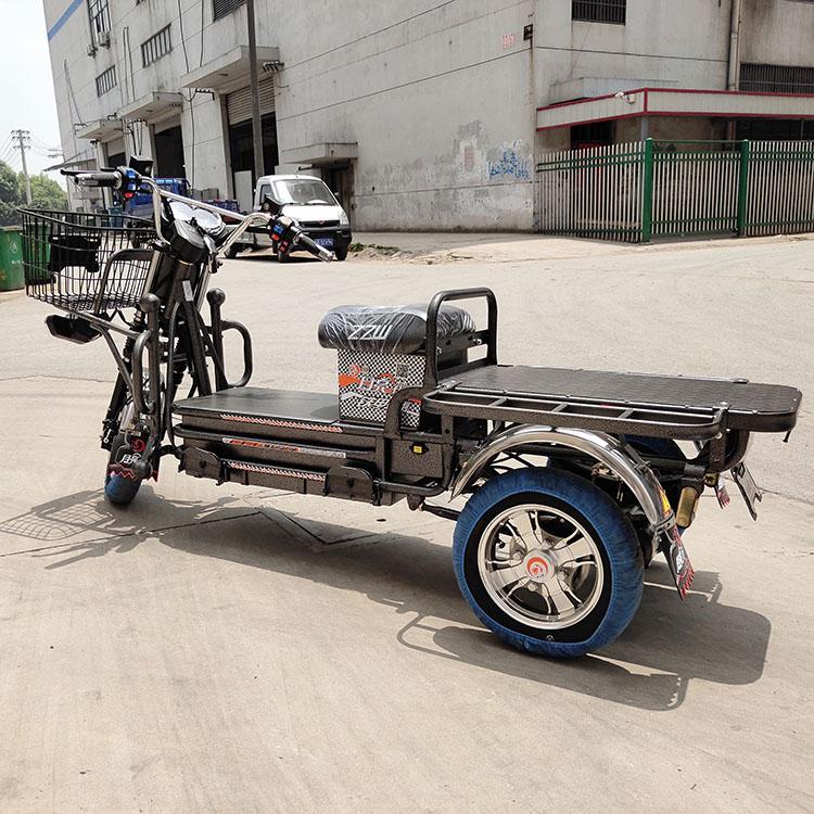 新款路霸电动三轮车路霸大力神载重摩自行长王跑王快餐拉客货车