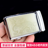 Natural Xinjiang Hetian Qingbaiyu Lucky Money Men's Belt Buckle and Tianyu God Beasts