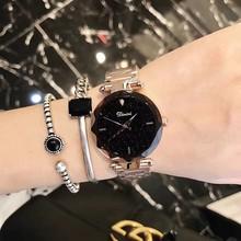 蒂米妮正品手表女时尚潮流女表钢带星空2018款女士手表防水石英表
