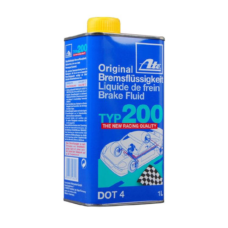 德国原装进口ATE TYP200刹车油竞技级高沸点制动液DOT4 1L装