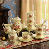 European Ceramic Coffee Tea Set English afternoon tea coffee cup and saucer to send the shelf married birthday gift