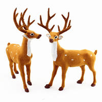 Christmas decorations Christmas simulation deer doll ornaments plush small plum station deer mall hotel window props