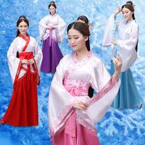 儿童古装演出服饰贵妃小仙女装汉服古典舞蹈摄影写真唐朝女公主裙