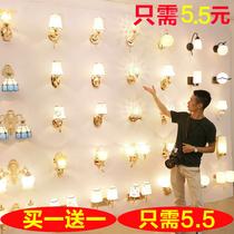 轻奢具复古咖啡馆日式盒子壁灯别墅简约浪漫灯罩床头灯床头墙头