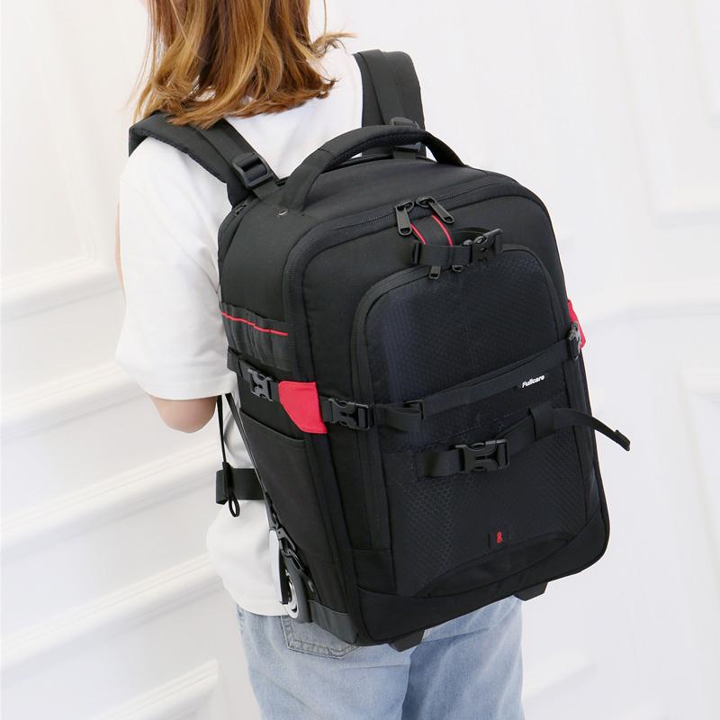 佳能尼康单反相机包拉杆箱摄影包双肩多功能专业大容量登机旅行箱