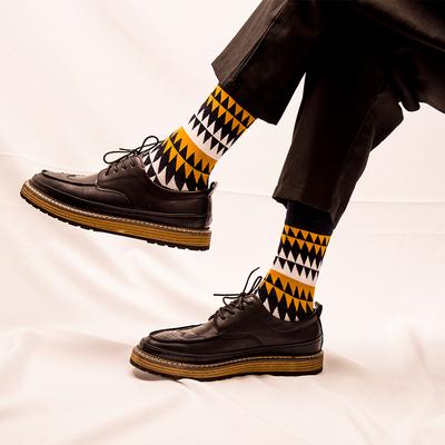 袜子男秋冬季纯棉男女中筒袜英伦风个性涂鸦长袜情侣袜潮流中性袜
