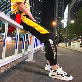 ins超火的裤子男韩版潮流工装九分裤宽松潮牌这就是街舞同款嘻哈