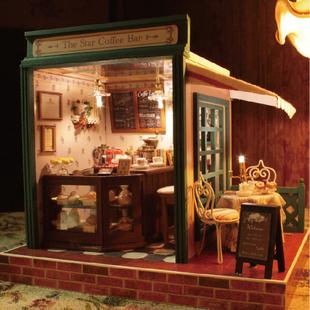 智趣屋diy小屋咖啡吧建筑房子手工小屋手工拼装模型浪漫生日礼物