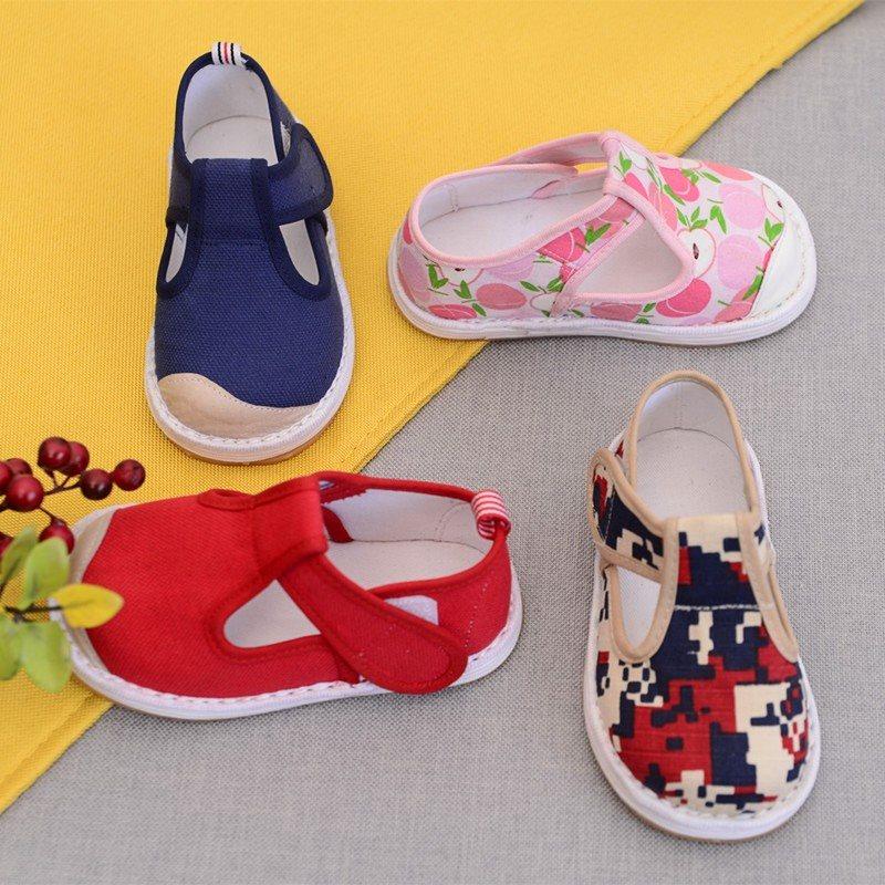 男女宝宝千层底手工老北京布鞋1-4岁婴儿童鞋透气软底学步鞋凉鞋