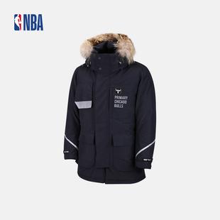 NBA 秋冬 公牛队加厚保暖中长款羽绒服外套 男款 N164DW122P