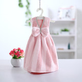 Cute little skirt to increase thick super absorbent hanging towel towel striped towel Korean coral velvet wipe cloth