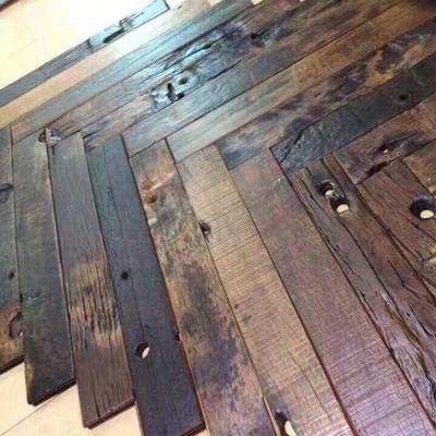 包邮 风化船木板 复古老旧实木风化木 工业风木墙板地板 楼梯踏板包邮