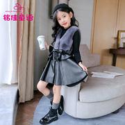 儿童装韩版女大童冬装小学生公主裙小女孩背心裙子冬季女童连衣裙