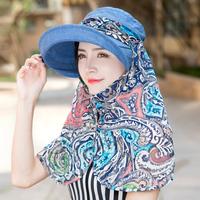 帽子女夏天遮阳帽户外出游防晒帽骑车运动帽防紫外线遮脸太阳帽潮